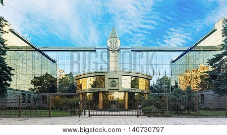 ODESSA, Ukraine - July 31, 2016: The facade of Odessa commercial court of appeal