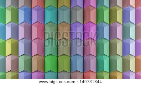 3D Geometry Background With Repeating Shapes