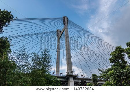 Longest Cable stayed bridge in India. The second Hooghly bridge.