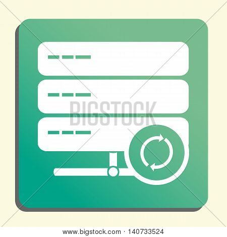 Server Refresh Icon In Vector Format. Premium Quality Server Refresh Symbol. Web Graphic Server Refr