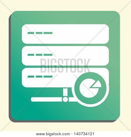 Server Pie Graph Icon In Vector Format. Premium Quality Server Pie Graph Symbol. Web Graphic Server