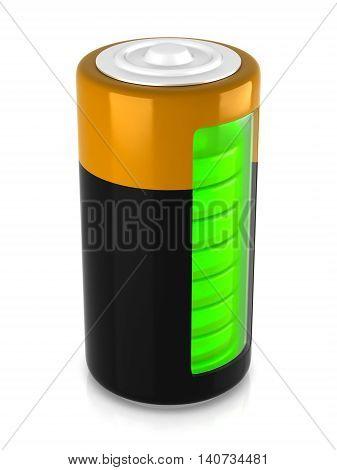 3D Rendering. A Battery Model