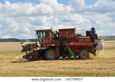Harvesting Of Wheat. Russia