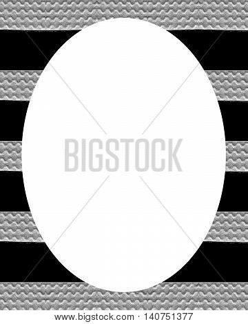 Circle White Frame Background With Decorated Stripes Borders