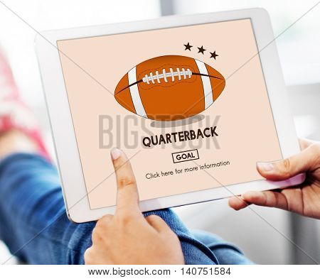 American Footbal Quarterback Player Team Concept