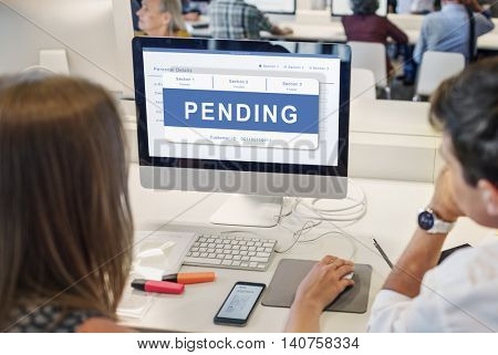 Pending Entry Waiting Approved Reject Concept