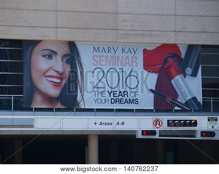 Dallas USA Sunday 31st July 2016. The annual Mary Kay Seminar is underway at the Kay Bailey Hutchison Convention Center Dallas. This years theme is The Year of Your Dreams.