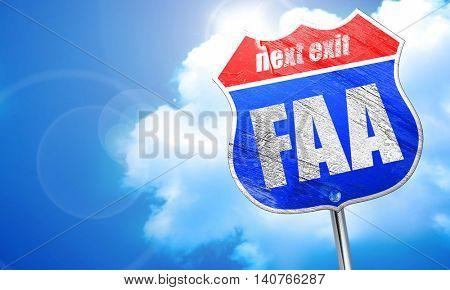 faa, 3D rendering, blue street sign