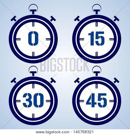 Stopwatch icon, vector illustration, symbol accuracy web set