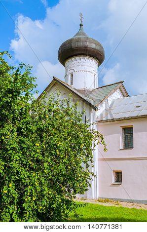 Church of Simeon the God Receiver in Zverin Pokrovsky Monastery Veliky Novgorod Russia - facade view