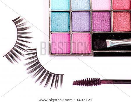 Cosmetics Set - Eyeshadows, Eyelashes, Mascara
