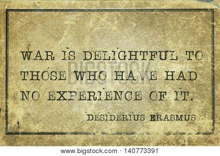 War Delight Erasmus
