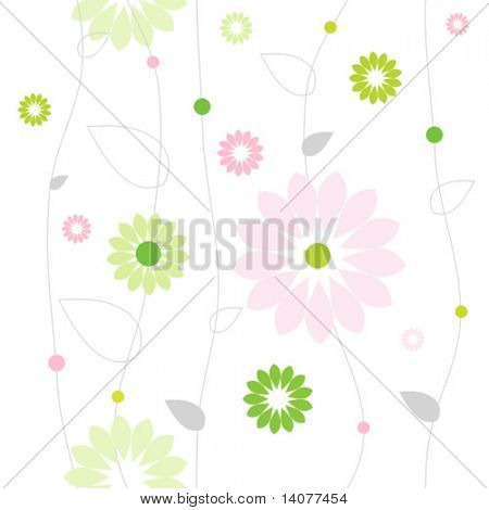 Seamless vector pattern with flowers