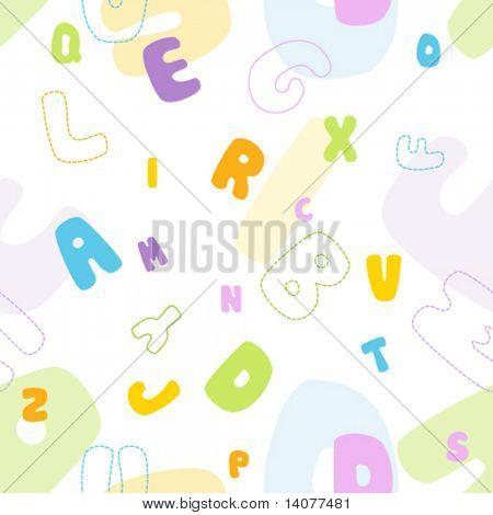 Seamless vector alphabet pattern