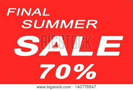 The words Final Summer Sale on red background