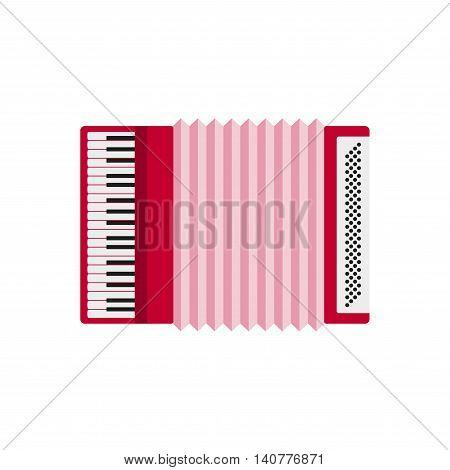 Accordion isolated on white background. Accordion flat icon. Accordion closeup