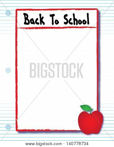 Back to School Paper Assignment Flyer Template