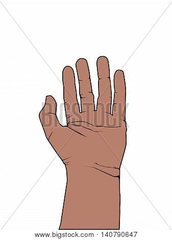 Five Finger Communication Hand High Five Illustration