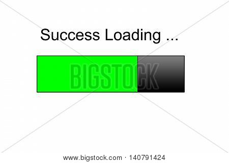 success loading Progress bar design, green loading bar