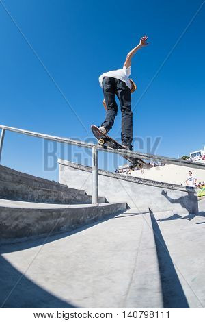 Bruno Senra During The Dc Skate Challenge