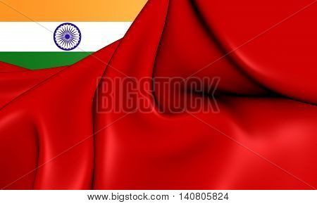 Civil Ensign Of The India. 3D Illustration.