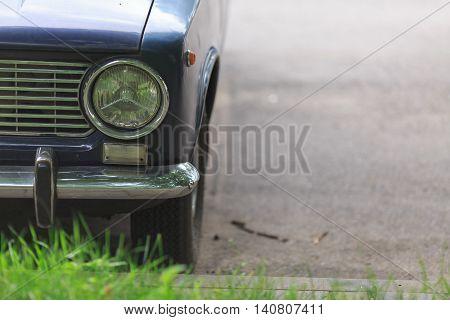 automobile headlight. close-up. auto background. xenon light.
