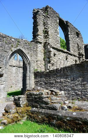 A view of the ruins of Inchmahome Priory