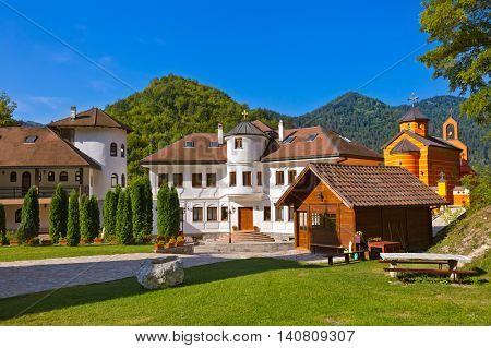 The medieval monastery Dobrun in Bosnia and Herzegovina - architecture travel background