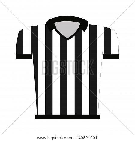 shirt uniform referee icon vector illustration design