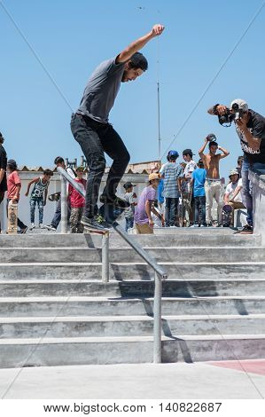 Duarte Pombo During The Dc Skate Challenge