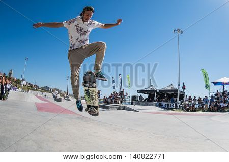 Joao Neto During The Dc Skate Challenge