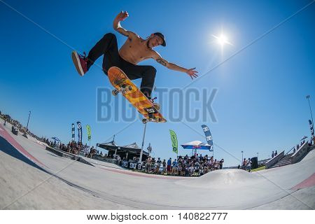 Jorge Simoes During The Dc Skate Challenge