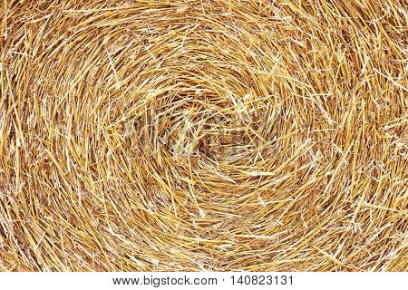 The swirl haystack texture background in the sunlight