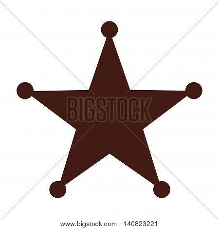 star sherif wild west icon graphic isolated vector