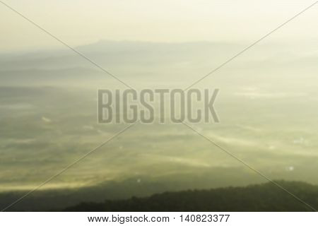 blurred image of mountain view landscape background