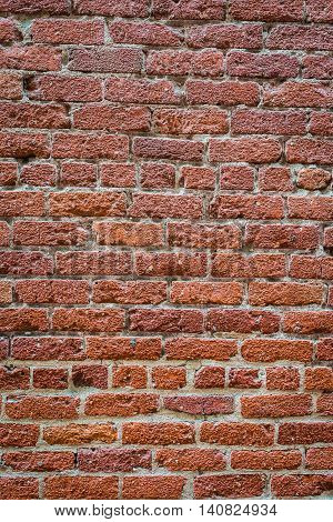Tall Red Brick Wall