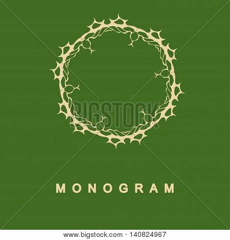 Elegant monogram design. Vector linear frame for justic lawyer, boutique or hotel