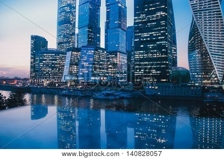Moscow City, russia, business, international, beautiful, skyline