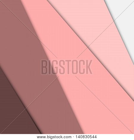 Pink overlap layer paper material design, stock vector