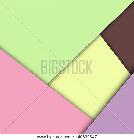 Colorful overlap layer paper material design, stock vector