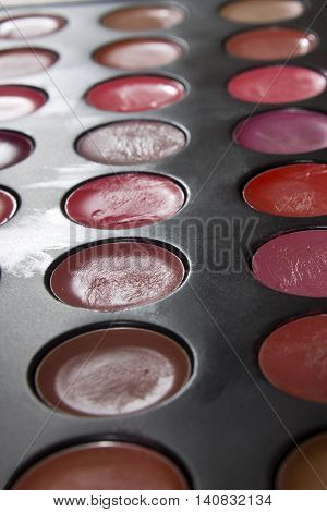 This is a photograph of a Lipstick palette