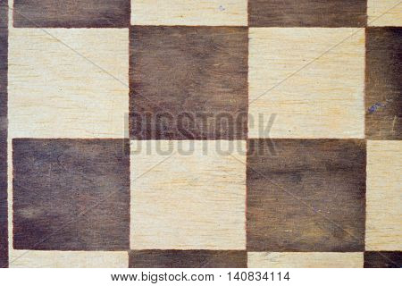 close up detail of wooden chess board as a background