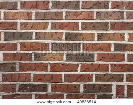 Detail close up of brown brick background