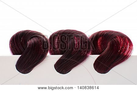 hair samples of different colors chromatic, coiffure, colorfu