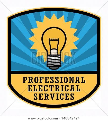Professional Electrical Services label or sign, vector illustration