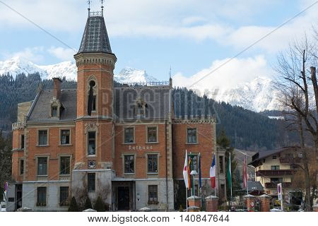 old town hall of Schladming in the former hunting lodge - Austria