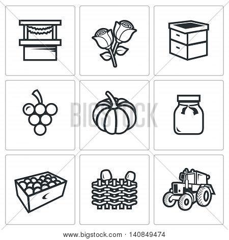 Trade, Floriculture, Apiary, Macaroni, Vegetable, Canning, Gardening, Farm, Transportation