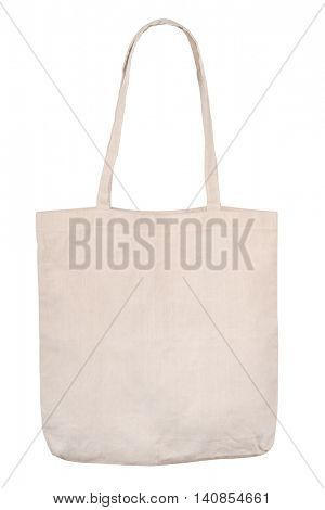 Blank linen shopping bag