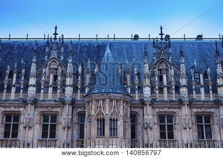 Parliament of Normandy in Rouen. Rouen Normandy France