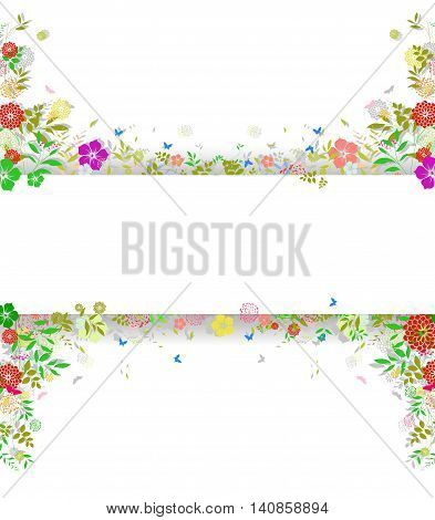 vintage background with flower for you design